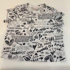 Victoria's Secret Black & White T Shirt
